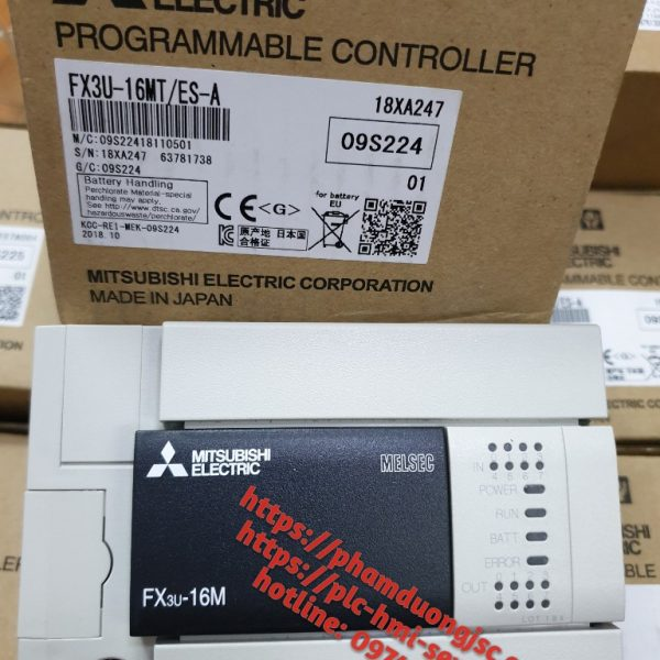 1 PLC FX3U-16MT/ES-A