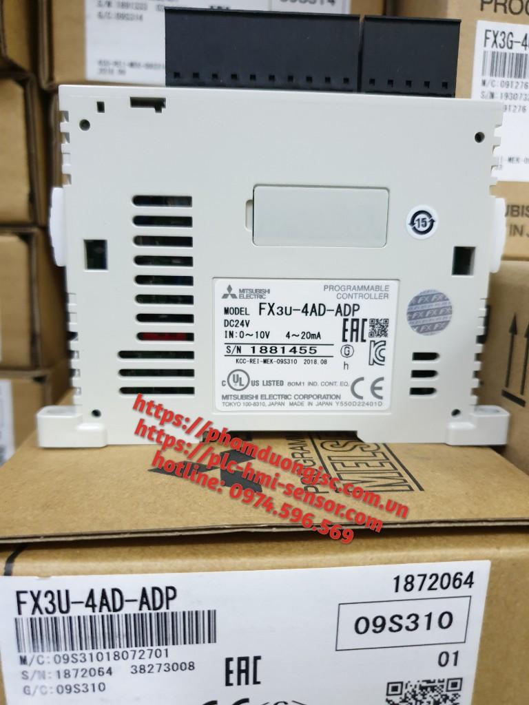Bộ chuyển đổi 4 ngõ vào tương tự FX3U-4AD-ADP